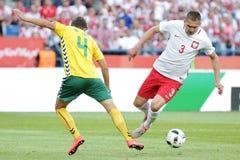 Φιλικό ποδοσφαιρικό παιχνίδι Artur Jedrzejczyk Inernational Στοκ φωτογραφία με δικαίωμα ελεύθερης χρήσης