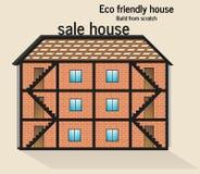 Φιλικό σπίτι Eco απεικόνιση αποθεμάτων