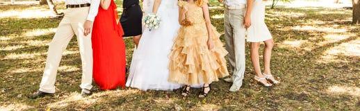 Φιλοξενούμενοι στο γάμο στοκ εικόνες