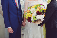 Φιλοξενούμενος με τα λουλούδια στοκ φωτογραφία με δικαίωμα ελεύθερης χρήσης