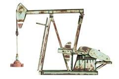 φιλτραρισμένο κόκκινο αντλιών πετρελαίου γρύλων εικόνας Στοκ φωτογραφίες με δικαίωμα ελεύθερης χρήσης