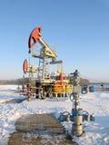 φιλτραρισμένο κόκκινο αντλιών πετρελαίου γρύλων εικόνας Στοκ Φωτογραφία