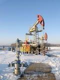 φιλτραρισμένο κόκκινο αντλιών πετρελαίου γρύλων εικόνας Στοκ Εικόνα
