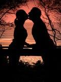 φιλώντας νεολαίες ζευγών στοκ εικόνες με δικαίωμα ελεύθερης χρήσης