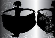 φλαμίγκο χορευτών απεικόνιση αποθεμάτων