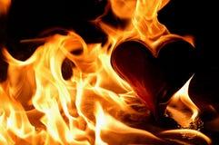 φλεμένος καρδιά Στοκ Φωτογραφίες