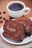 Φλιτζάνι του καφέ και έρημος Στοκ Εικόνες