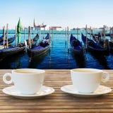 Φλιτζάνι του καφέ στη Βενετία Στοκ Φωτογραφίες