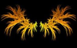φλογερά φτερά Στοκ εικόνες με δικαίωμα ελεύθερης χρήσης