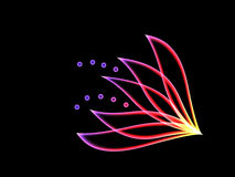 φλογερό λουλούδι Στοκ Εικόνες