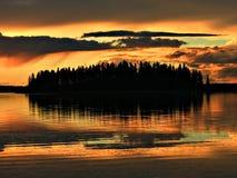 φλογερό νησί Στοκ Φωτογραφία