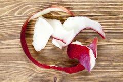 φλούδα από το μήλο στοκ φωτογραφίες με δικαίωμα ελεύθερης χρήσης