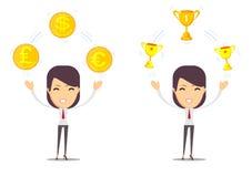 Φλυτζάνι εκμετάλλευσης γυναικών, βραβείο, βραβείο χρημάτων, Στοκ εικόνα με δικαίωμα ελεύθερης χρήσης