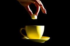 φλυτζάνι κίτρινο Στοκ φωτογραφία με δικαίωμα ελεύθερης χρήσης