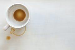 φλυτζάνι καφέ ανασκόπησης στοκ φωτογραφία