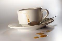 φλυτζάνι καφέ βρώμικο στοκ εικόνες