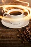 φλυτζάνι καφέ θερμό στοκ εικόνες