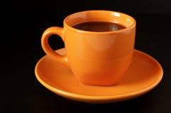 φλυτζάνι καφέ κίτρινο Στοκ εικόνα με δικαίωμα ελεύθερης χρήσης