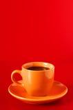 φλυτζάνι καφέ κίτρινο Στοκ Εικόνες