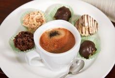 φλυτζάνι καφέ σοκολάτας Στοκ εικόνες με δικαίωμα ελεύθερης χρήσης