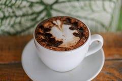 Φλυτζάνι καφέ, υπόβαθρα του καφέ Latte στοκ εικόνα με δικαίωμα ελεύθερης χρήσης
