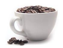 φλυτζάνι καφέ φασολιών Στοκ Φωτογραφία