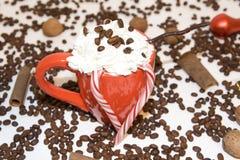 φλυτζάνι καφέ Χριστουγένν&o Στοκ Φωτογραφίες