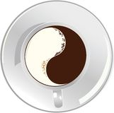 φλυτζάνι καφέ yan yin Στοκ Εικόνα
