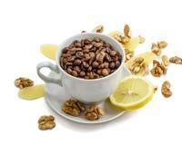 Φλυτζάνι με τα σιτάρια καφέ Στοκ Εικόνες
