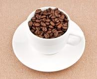 Φλυτζάνι με τα φασόλια καφέ Στοκ εικόνα με δικαίωμα ελεύθερης χρήσης