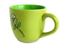 φλυτζάνι πράσινο Στοκ εικόνα με δικαίωμα ελεύθερης χρήσης
