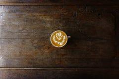 Φλυτζάνι του καφέ τέχνης latte Στοκ φωτογραφία με δικαίωμα ελεύθερης χρήσης