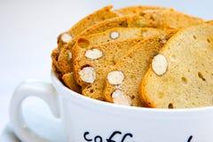 φλυτζάνι biscotti Στοκ Φωτογραφίες