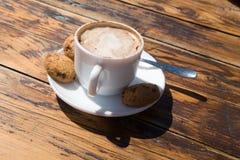 φλυτζάνι cappuccino στοκ εικόνες