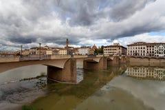 Φλωρεντία - άποψη στον ποταμό Arno, Τοσκάνη, Ιταλία Στοκ φωτογραφίες με δικαίωμα ελεύθερης χρήσης