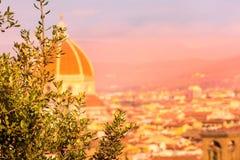 Φλωρεντία, Ιταλία με το θόλο Duomo στοκ εικόνες με δικαίωμα ελεύθερης χρήσης