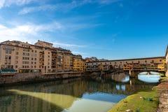 Φλωρεντία Ιταλία - Ponte Vecchio και ποταμός Arno στοκ εικόνα με δικαίωμα ελεύθερης χρήσης