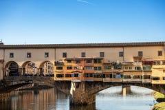 Φλωρεντία Ιταλία - Ponte Vecchio και ποταμός Arno στοκ εικόνες