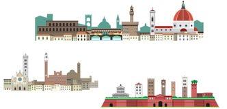 Φλωρεντία, Σιένα και Lucca στην Τοσκάνη στοκ εικόνα