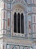 Φλωρεντία Τοσκάνη Ιταλία, λεπτομέρεια του καμπαναριού του διάσημου Giotto, στοκ φωτογραφίες