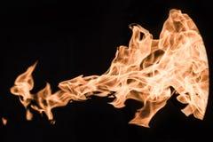 Φλόγα της πυρκαγιάς σε ένα μαύρο υπόβαθρο Στοκ εικόνες με δικαίωμα ελεύθερης χρήσης