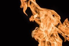 Φλόγα της πυρκαγιάς σε ένα μαύρο υπόβαθρο 2 Στοκ Εικόνες