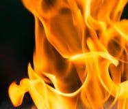 Φλόγα της πυρκαγιάς ως υπόβαθρο Στοκ εικόνα με δικαίωμα ελεύθερης χρήσης