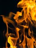 Φλόγα της πυρκαγιάς ως υπόβαθρο Στοκ Εικόνα