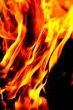 Φλόγα της πυρκαγιάς ως υπόβαθρο Στοκ Φωτογραφίες