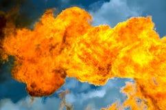 Φλόγα της πυρκαγιάς στοκ φωτογραφίες με δικαίωμα ελεύθερης χρήσης