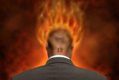 φλόγες επιχειρηματιών Στοκ εικόνες με δικαίωμα ελεύθερης χρήσης