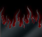 φλόγες μεταλλικές Στοκ φωτογραφία με δικαίωμα ελεύθερης χρήσης