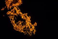 Φλόγες πυρκαγιάς στο μαύρο υπόβαθρο πυρκαγιά στο μαύρο υπόβαθρο που απομονώνεται σχέδια πυρκαγιάς στοκ εικόνες