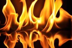Φλόγες πυρκαγιάς Στοκ Φωτογραφίες